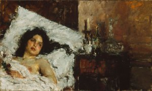 Resting by Antonio Mancini Art Institute of Chicago