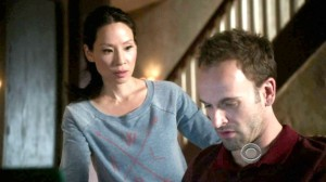 Lucy Liu as Watson and Jonny Lee Miller as Sherlock Holmes in Elementary